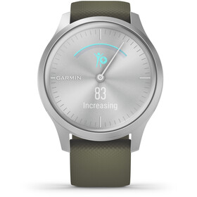 Garmin Vivomove Style Reloj Inteligente, silver/moss green